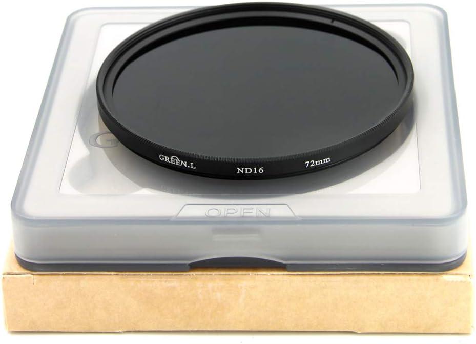GREEN.L 77mm ND16 ND Filter Slim Neutral Density Lens Filter Optical Glass 4 Stop