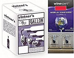 Vintner\'s Best One Gallon Wine Making Equipment Kit with One Gallon Merlot Ingredients and (2) Strange Brew Tasting Glasses by Strange Brew