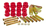 Prothane 7-1052 Red Rear Mono Leaf Spring Eye and HD Shackle Bushing Kit