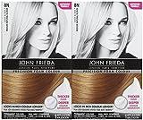 blonde hair dye foam - John Frieda Precision Foam Hair Colour, Medium Natural Blonde 8N, 2 pk