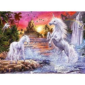 Yyyr Puzzle Per Adulti In Legno Due Unicorni 3d Puzzle Classico In Legno Fai Da Te Decorazioni Per La Casa Regalo 500 Pezzi