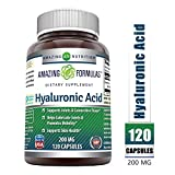 Amazing Formulas Hyaluronic Acid 200 mg 120 Capsules (Non-GMO) - Support Healthy Connective Tissue and Joints - Promote Youthful Healthy Skin