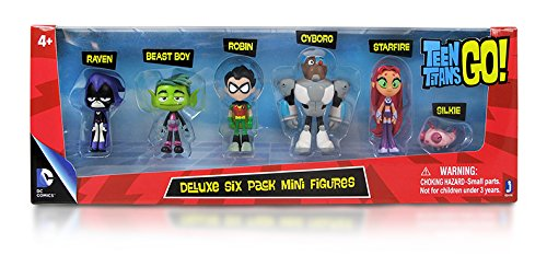 Teen Titans Go! Teen Titans Action Figure (6-Pack), 2""