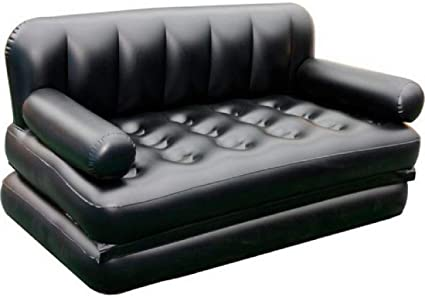 Brilliant Soflin 5 In 1 Air Sofa Cum Bed With Pump Lounge Couch Mattress Inflatable 3 Seater Machost Co Dining Chair Design Ideas Machostcouk