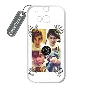 CASECOCO(TM) 5 Seconds of Summer HTC One M8 - Protective Hard White Case for HTC One M8 by ruishername