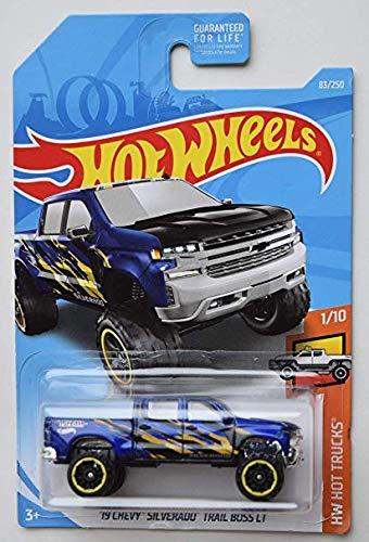 Hot Wheels 2019 HW Hot Trucks '19 Chevy Silverado Trail Boss LT 83/250, - Chevrolet Chevy 64