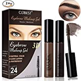 Image of Eyebrow Makeup Gel, Eyebrow Tint Gel, Eyebrow Dye Cream, 2Pcs Natural Color Eyebrow Gel, Waterproof Long Lasting Eyebrow Dye Gel for Eyebrow Makeup