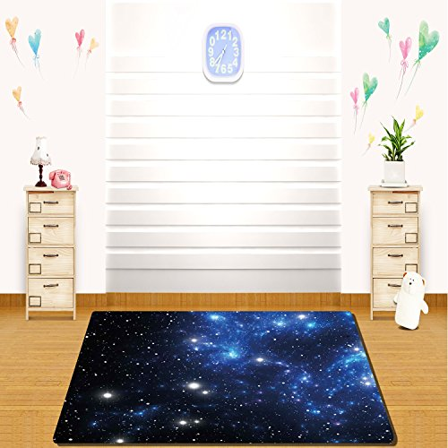 HAIXIA rugs Constellation Outer Space Star Nebula Astral Cluster Astronomy Theme Galaxy Mystery Blue Black ()