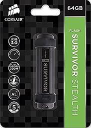 Corsair Flash Survivor Stealth 64GB USB 3.0 Flash Drive