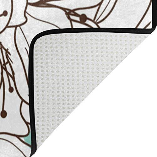 Blossom 48 L'usure Chaussures 63 Chambre Grattoir Décoration Doux À 1 Polyester Coucher Salon Paillasson La Tapis Montoj Résistant Maison Inch Super Plum X De Zone Motif f5HWxnwqSC