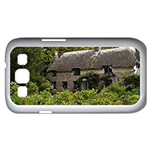 cottage (Houses Series) Watercolor style - Case Cover For Samsung Galaxy S3 i9300 (White)