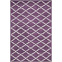 Safavieh Chatham Collection CHT721F Handmade Purple and Ivory Premium Wool Area Rug (4 x 6)