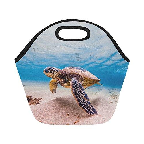 InterestPrint Under Sea Turtle Reusable Insulated Neoprene Lunch Tote Bag Cooler 11.93