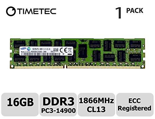 Timetec Original M393B2G70EB0-CMA 16GB DDR3 1866MHz PC3-14900 Registered ECC 1.5V CL13 2Rx4 Dual Rank 240 Pin RDIMM Server Memory RAM Module Upgrade (16GB)