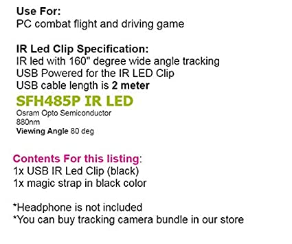 S18 - USB LED IR Track Clip Pro for Track IR 5 4 FreeTrack Opentrack
