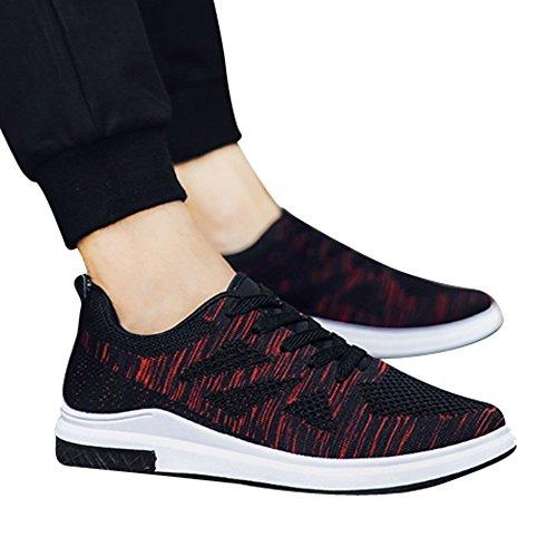 De Zapatos Deporte Caminar Al Libre Transpirable ALIKEEYLuz Correr Zapatos Negro De Zapatillas Malla Casuales Aire Hombres De dwzxgxYFfq