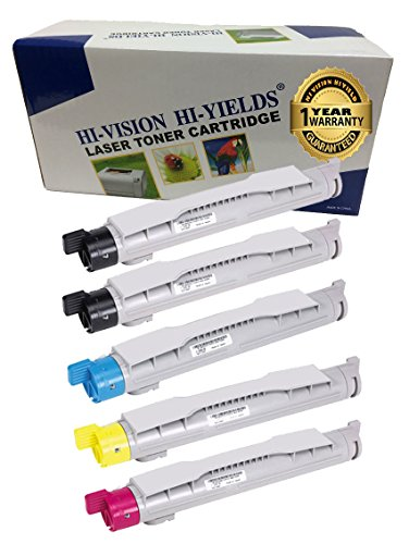 HI-VISION HI-YIELDS ® Compatible Toner Cartridge Replacement for Dell 5100 (2 Black, 1 Cyan, 1 Yellow, 1 Magenta, 5-Pack)