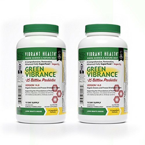 VibrantHealth - Green Vibrance - 240 vegicaps - 2 pack by Vibrant Health by Vibrant Health
