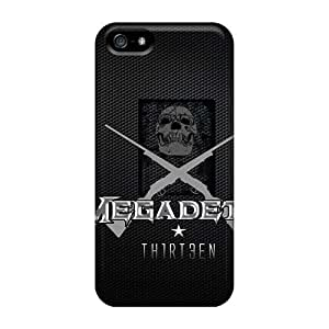 EricHowe Iphone 5/5s Shock Absorbent Hard Cell-phone Cases Support Personal Customs Attractive Megadeth Band Image [HYg13273dHnD]