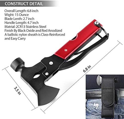 Cool /& Unique Gifts for Men Dad Husband Boyfriend Camping Gear Multitool