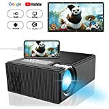 Mini Projector,ifmeyasi Home Theater Video Portable Projector with 1080P Supported, for Home Entertainment Video,Computer,Fire TV,Laptop,Gaming Chormecast,SD/DLAN/Android Phone Smartphone
