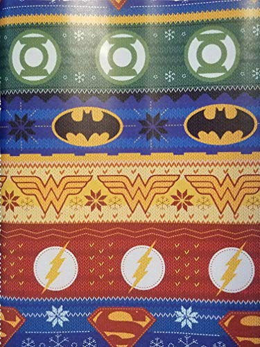 Gift Wrap - Justice League Symbols- Wrapping Paper 20 sq ft. 1 Roll