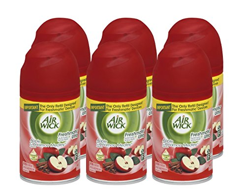 Air Wick Freshmatic 6 Refills Automatic Spray, Apple Cinnamon Medley,6.17 Ounce (Pack of (Automatic Spray Refill)