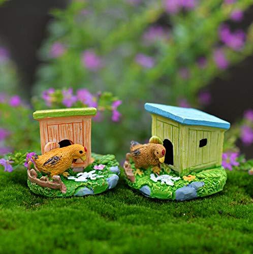 STORE-DECORATIVE - Animal House Figures Miniature Figurine for mini fairy garden Aquarium fish tank animal statue resin craft TNB047 by STORE★DECORATIVE★ (Image #3)