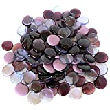 Large Glass Gems, 4.75 Lb. Bag, Purple, Amethyst and Lilac, 35-38 mm, Great for Decorating or Crafts.