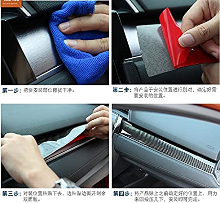 CROTRIM for Honda Civic Carbon Fiber Car Door Moulding Trim Cover 4pcs 2016-2017