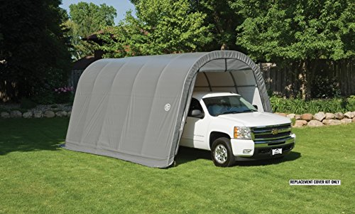 ShelterLogic Replacement Cover Kit 90508 11277 802613 802614 13x20x10 Round Top for model 62667 or 30667 (9oz Gray) - Shelterlogic Cover