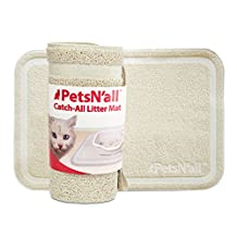"Cat Litter Mat by PetsN'all - Catch All Easy to Clean Litter Box Mat - Beige, Extra Large (35.5 x 24""/90 x 60 centimeters)"