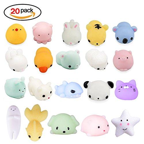 20Pcs Squishy Toy, LEEHUR Party Favor Mini Cute Squeeze Funn