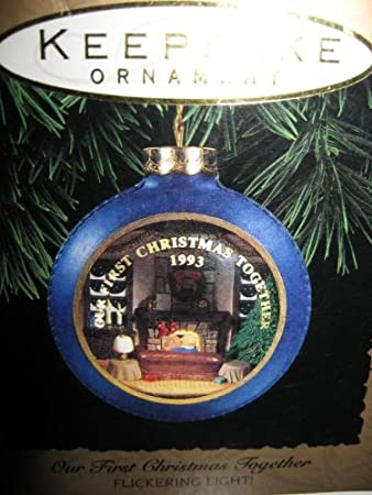 Hallmark Keepsake Ornament: Our First Christmas Together 1993 -Real Flickering Light!
