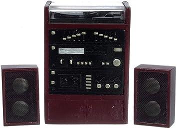 Amazon.es: Melody Jane Casa de Muñecas Estéreo Tocadiscos Stack ...