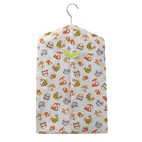 Bedtime Originals Friendly Forest Woodland Diaper Stacker, Green/Brown/White