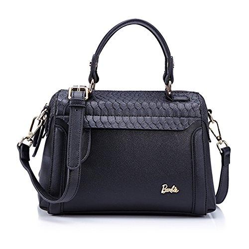 Barbie BBFB157 Bolso de Vintage Elegante Bolso de Mano Bolso Bandolera Lindo negro