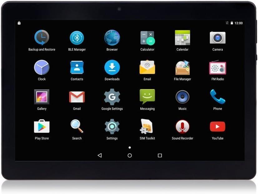 Android 7.0 Nougat Tablet 10 Pulgadas con Ranuras para Tarjetas Dual Sim Quad Core 3G Teléfono Desbloqueado Tablet 4GB RAM 64GB ROM WiFi Incorporado Bluetooth GPS (Black)