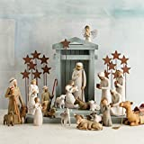 Willow Tree Crèche, Hand-Painted Nativity Backdrop