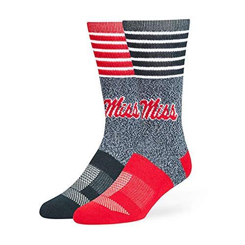 '47 NCAA Mississippi Old Miss Rebels Mens NCAA Men's Vernon Fuse Sockncaa Men's Vernon Fuse Sock, Navy, Large (Men's Sizes 9-13)