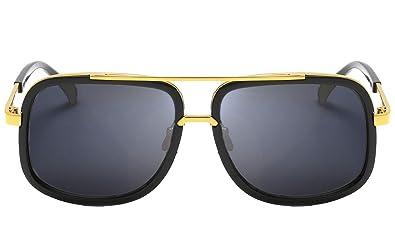 Eyerno Retro Aviator Sunglasses For Men Women Vintage Square Designer Sun Glasses