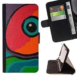 - Eye Painting Lizard Modern Art - Estilo PU billetera de cuero del soporte del tir???¡¯????n [solapa de cierre] Cubierta- For LG G2 D800 £š Devil Case £©
