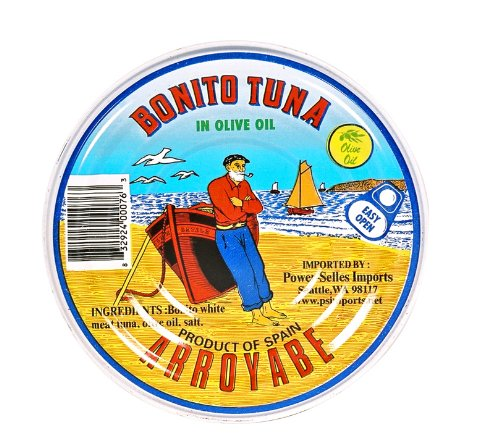 Arroyabe Bonito Tuna in Oil, 9.15-Ounce Round Tin (Pack of ()