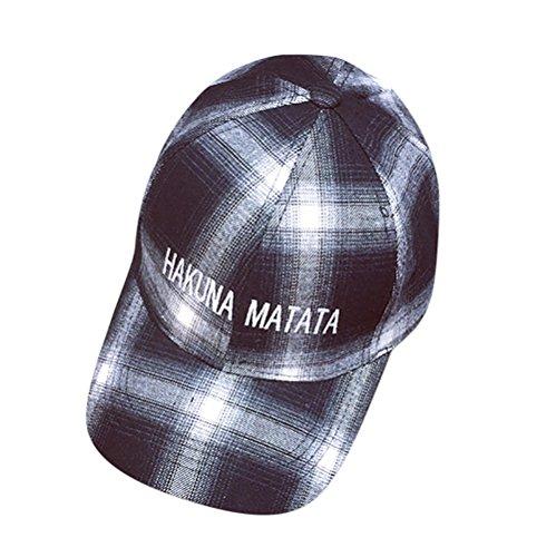 b2edcc360eff7 2019 Womens Mens Letter Embroidery Stripe Plaid Peaked Caps Baseball Caps  Unisex Hip Hop Flat Cotton