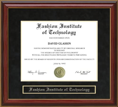 Amazon Com Wordyisms Fashion Institute Of Technology Fit Mahogany Diploma Frame