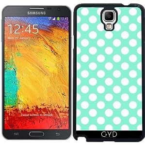 Funda para Samsung Galaxy Note 3 Neo/Lite (N7505) - Los Lunares Blancos En Verde Menta by Djuranne