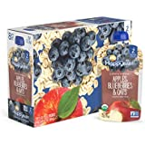 Happy Baby Clearly Crafted Organic Baby Food Stage 2, Apples Blueberries & Oats, 4 Ounce, 16 Count