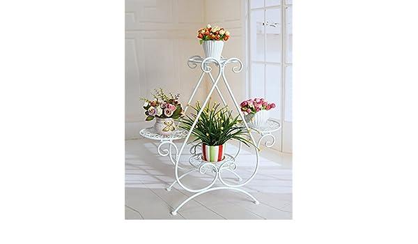 ZHANWEI De estilo europeo Hierro Flor de rack sala de estar Multilayer suelo Tipo de suelo balcón de interior al aire libre Chlorophytum planta Flor de rack ...