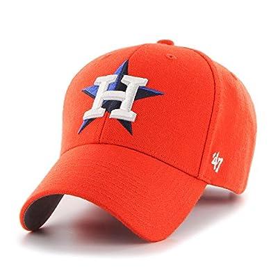 '47 Houston Astros MLB Brand Basic Orange Hat Cap Adult Men's Adjustable by 47