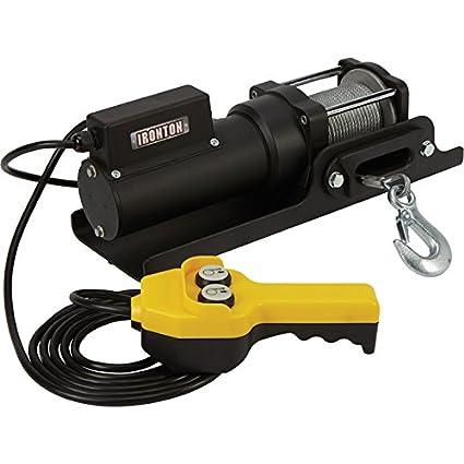 120 Volt Winch >> Amazon Com Ironton 120 Volt Ac Powered Electric Utility Winch